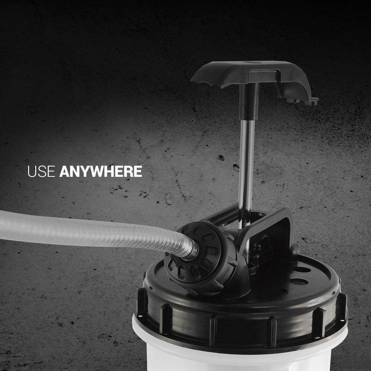 EWK 7.5 Liter Manual Oil Pump Extractor Fluid Evacuator For DIY Oil Change by EWK (Image #2)