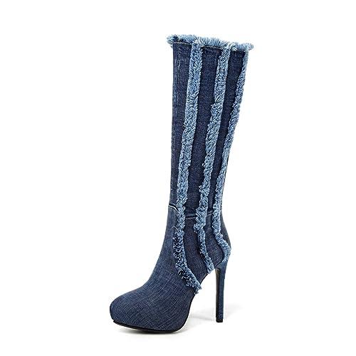 JIEEME zg21-131 - Botines Chelsea de Vaquero Mujer: Amazon.es: Zapatos y complementos