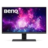 BenQ GW2780 27 Inch IPS 1080p Monitor, Ultra Slim Bezel, Low Blue Light, Flicker-Free, Speakers, VESA Ready, Cable Management System, HDMI, Black