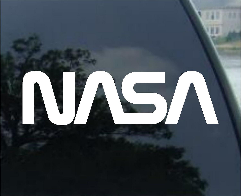 """Mono Decals NASAロゴ 車 トラック ノートパソコン ノートブック ウィンドウ デカールステッカー 4"""" ホワイト 743161894438 4\ ホワイト B076XNSWBS"""