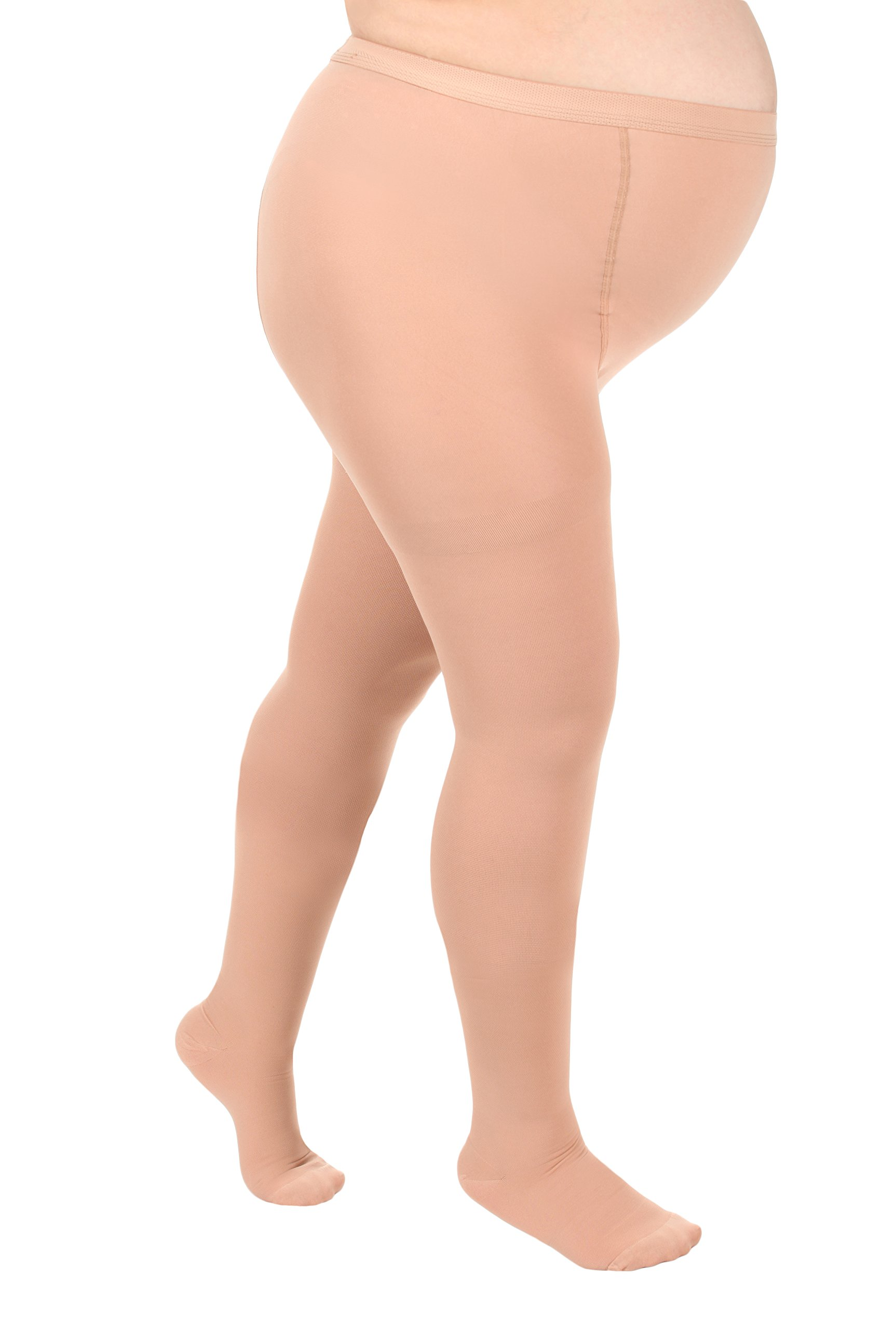 Opaque Maternity Compression Stockings Pantyhose 20-30mmHg, Beige XL by Absolute Support