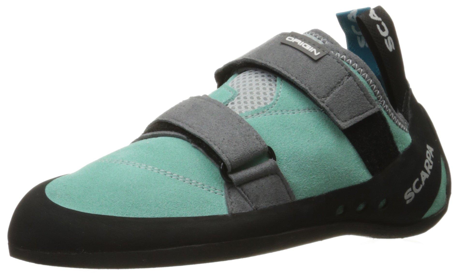 SCARPA Women's Origin WMN Climbing Shoe, Green Blue/Smoke, 37 EU/6 M US by SCARPA