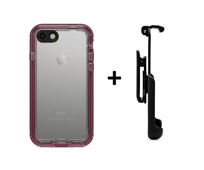 new style c0428 1cea6 LifeProof NUUD Series Waterproof Case for iPhone 7 (ONLY) - Retail  Packaging (Plum Reef + Belt Clip)