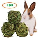 Rabbit Chew Ball Timothy Grass Grinding Small Animal Activity Play Chew Toys for Bunny Rabbits Hamster Guinea Pigs Gerbils