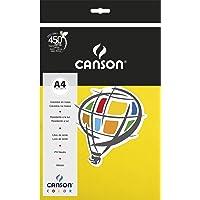 Papel Canson Color Amarelo Canário A4 180g/m² com 10 folhas