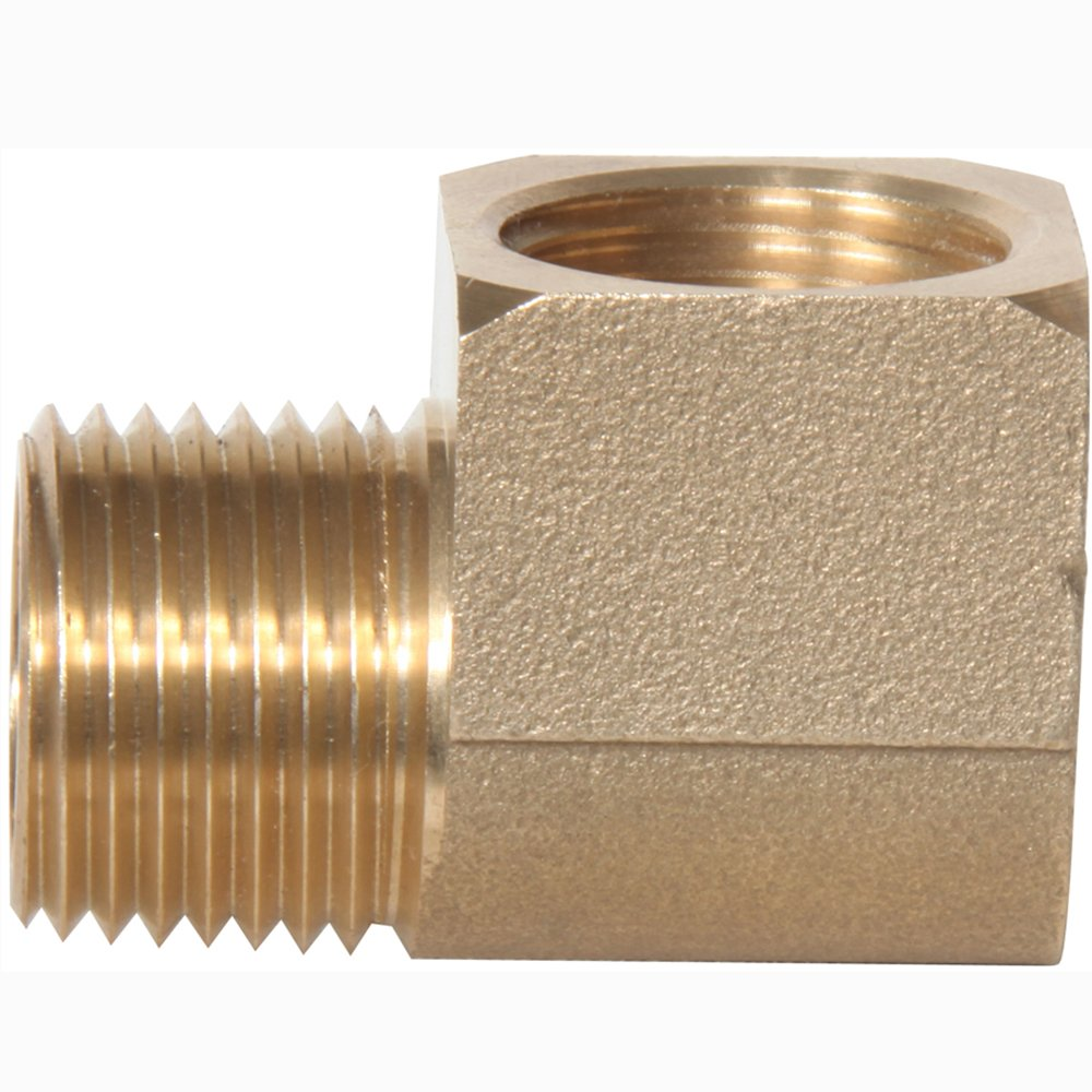 Midwest-Control Midwest Control 23400X8-P2 MPT X FPT 1//2 Brass 90 Degree Street Elbow 2 Pack