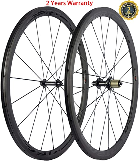 FidgetGear Superteam Rueda de Bicicleta de Carretera Tubular de 38 mm R13 Hub Ruedas de Carbono 700C: Amazon.es: Deportes y aire libre