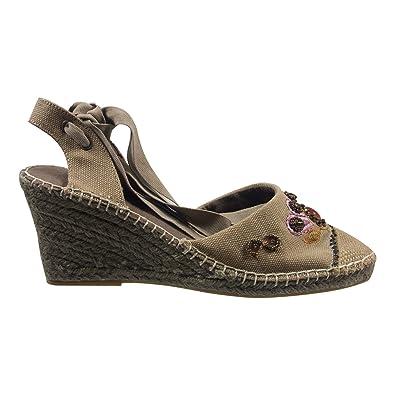 Ornela Brenti 33100-552 Damen Schuhe Premium Qualität Sandalette Beige (beige) [EU 36.0] rqeIC5j4z