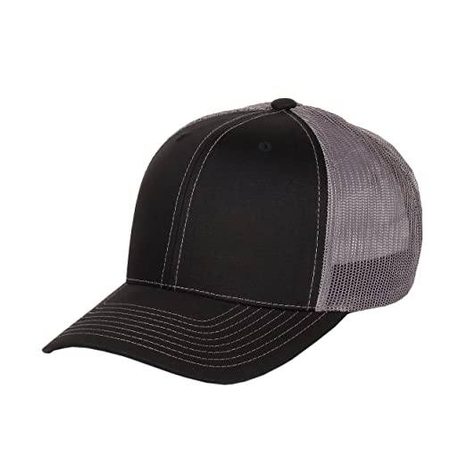 a5c207b0b16 Richardson Twill Mesh Back Trucker Hat with Adjustable Plastic ...