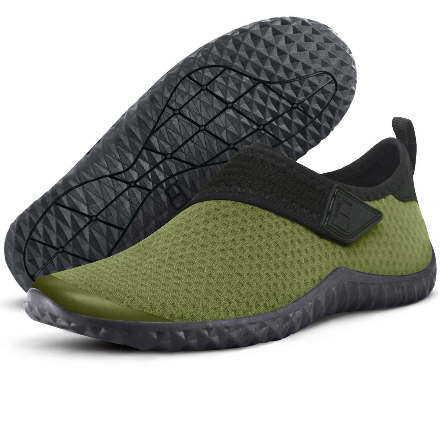 358a3b300e4e59 Centipede Demon Mens Water Shoes Quick Dry Barefoot for Swim Diving Surf  Sports Pool Beach 10 M Army Green