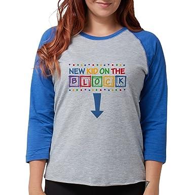 692d01eb Amazon.com: CafePress New Kid On The Block Mom Long Sleeve T-Shirt - Womens Baseball  Tee: Clothing