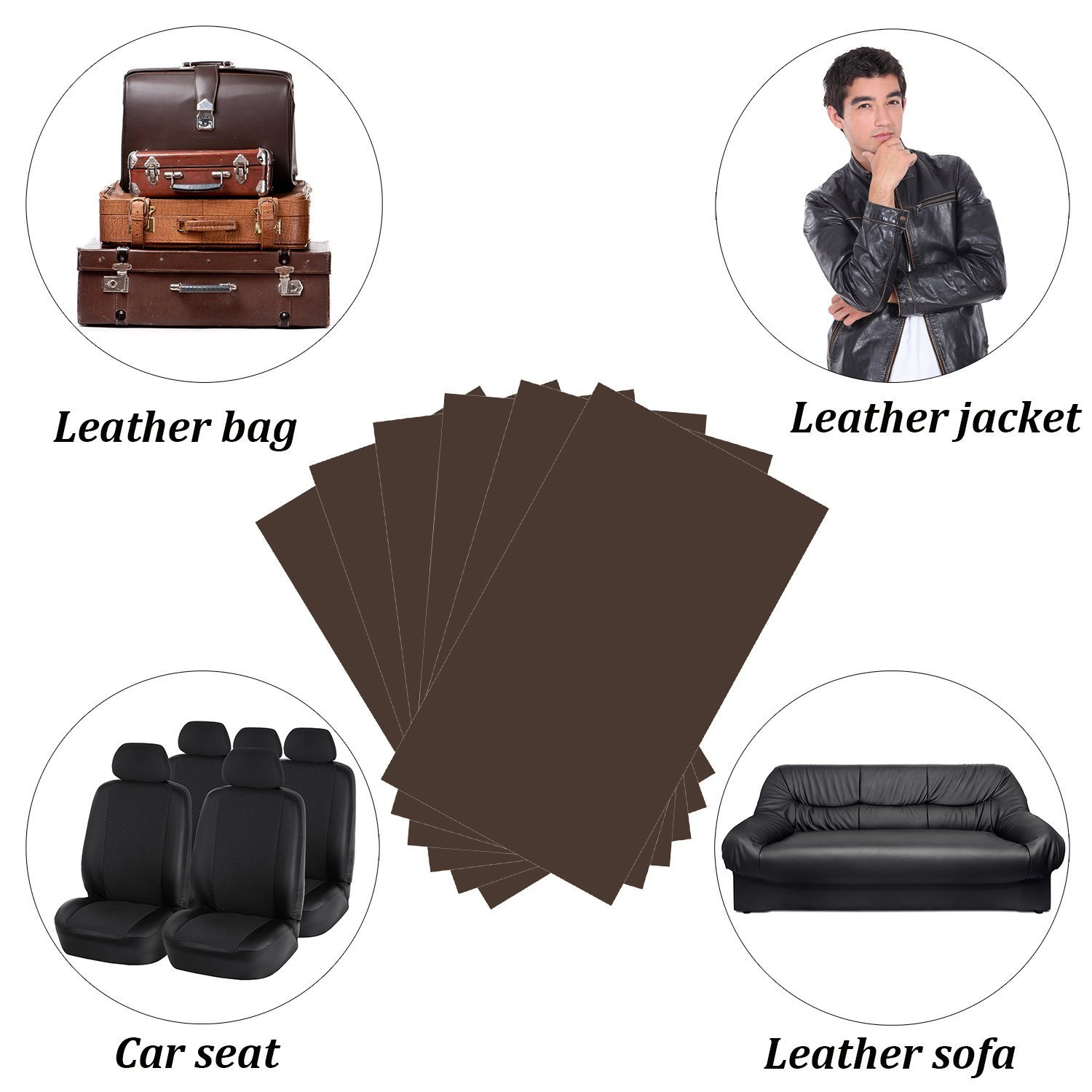 Autrix 6 Pack Leather Repair Patch Leather Adhesive Patches For
