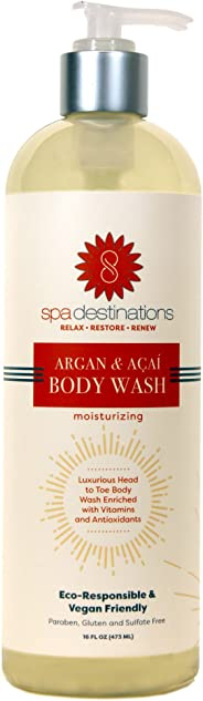 Spa Destinations Argan & Acai Moisturizing Body Wash 16 Ounce