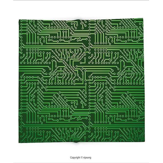 Custom bedruckt Überwurf Decke mit digitaler Computer Art ...