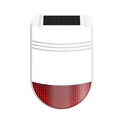 SAFEPRINT 2home ® alta calidad solar sirena exterior ...