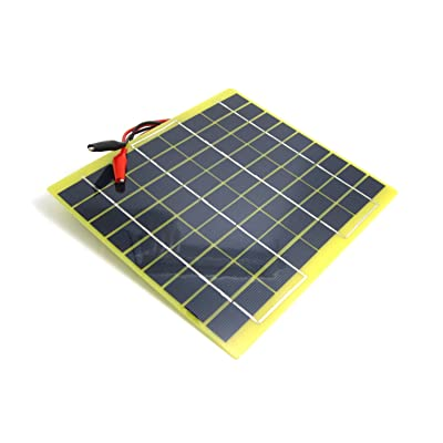 NUZAMAS Portable 5W 12V Solar Panel Module Battery Charger with Battery Clips Diode Over Charge Protection Easy Carry for Camping Hiking Fishing Hunting : Garden & Outdoor [5Bkhe0110479]