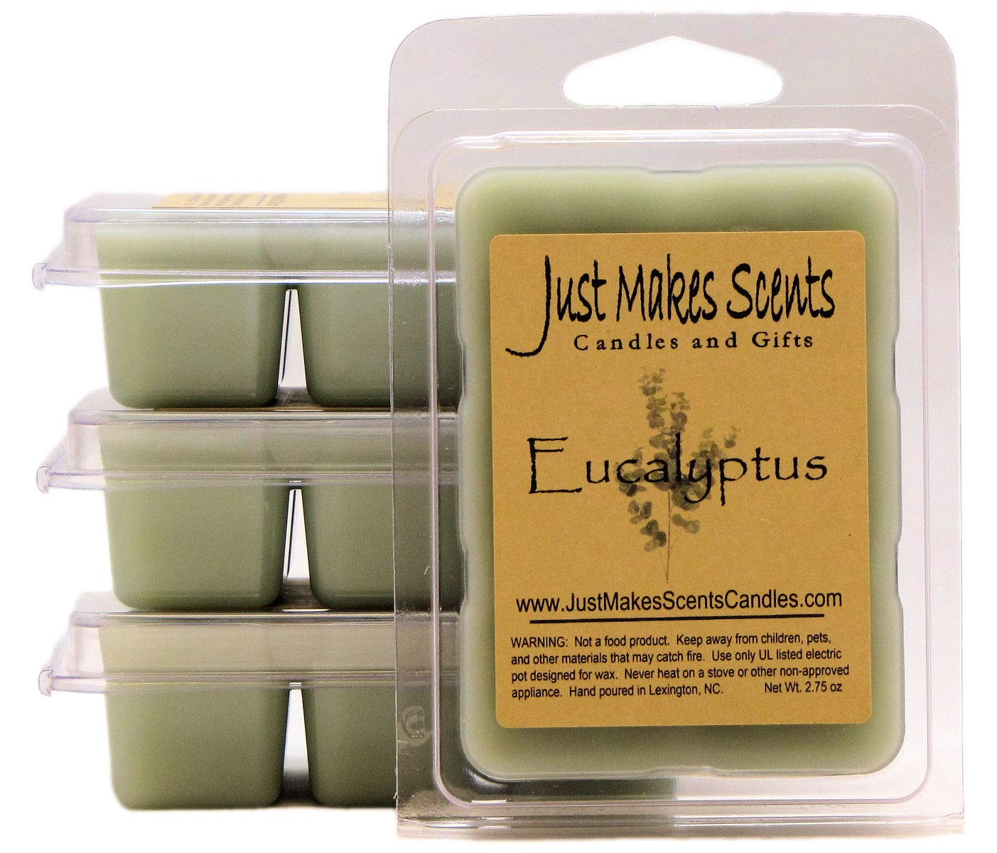 Just Makes Scents 4 Pack - Eucalyptus Scented Wax Melts