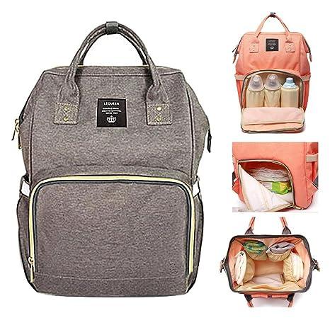 Mochila de pañales Pawaca multifunción para bebé bolsa de pañales bolso de viaje mochila para el