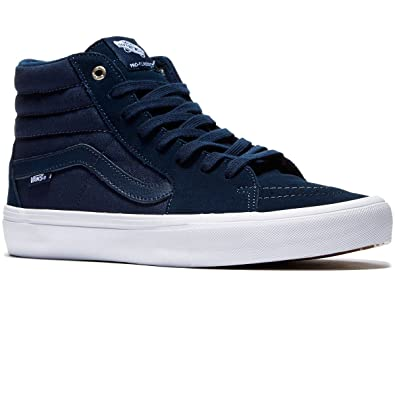 4cfd91aa7c9adf Image Unavailable. Image not available for. Color  Vans SK8-Hi Pro Navy Navy  White Mens ...
