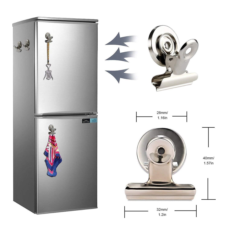 NEEGO Imánes Nevera Clip Refrigerador 10 Piezas Perfecto Imanes de Nevera Imanes de la Cocina Imanes de la Pizarra para la Escuela de la Oficina ...