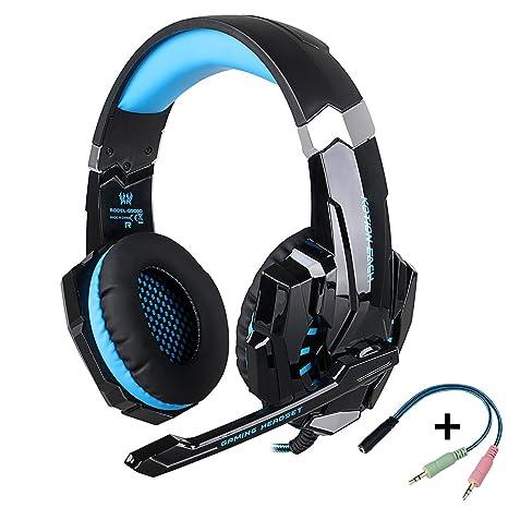 KOTION EACH G9000 -Auriculares de Diadema Cerrados con Micrófono ...