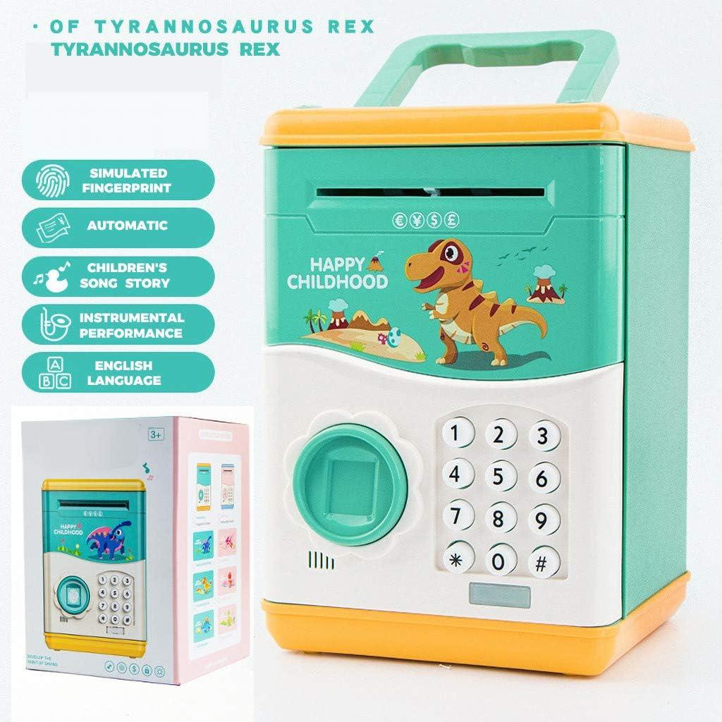 FBGood - Hucha electrónica para niños, Color Plateado, Caja Fuerte ...