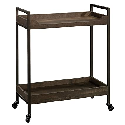 INDIAN DECOR 45096 MDF Wood Kitchen CART Serving Trolley North Avenue Cart, Smoked Oak