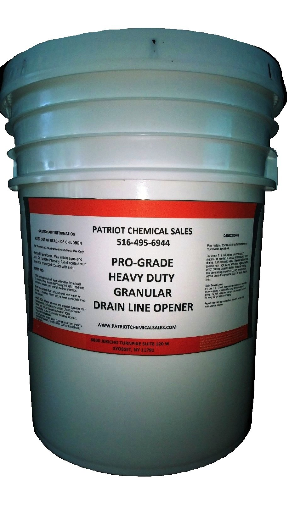 Patriot Chemical Sales 25 Pounds Heavy Duty Granular Drain Line Opener Crystals Industrial Strength by Patriot Chemical Sales
