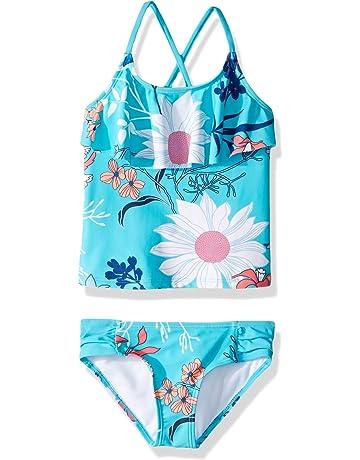 3679280afcffb Kanu Surf Girls' Charlotte Flounce Tankini Beach Sport 2-Piece Swimsuit