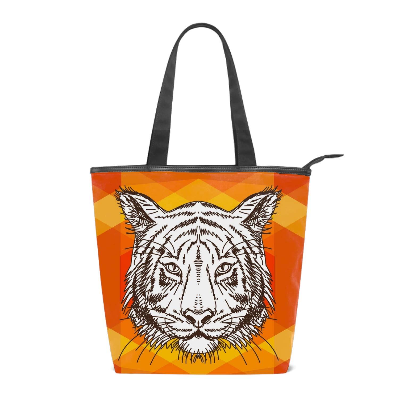Canvas Crossbody Bags Black Cat Cartoon With A Pumpkin For Women Fashion Shoulder Bag Satchel Tote Hand Bag
