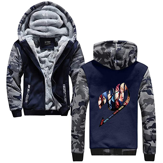 Unisex Fairy Tail Sudadera con Capucha Hip Hop Moda Chaquetas Mantener Caliente Moda Jacket Coat: Amazon.es: Ropa y accesorios