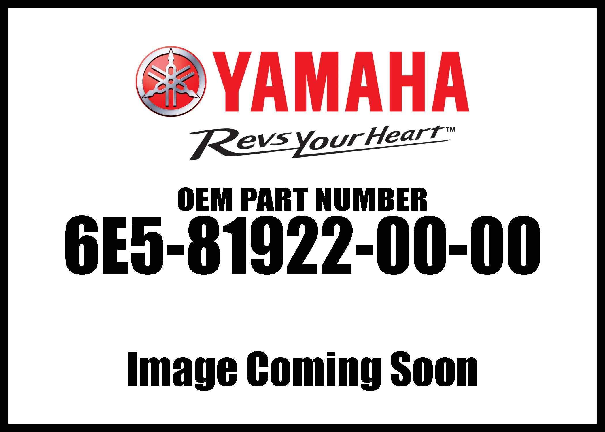 Yamaha 6E5-81922-00-00 GROMMET; 6E5819220000
