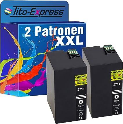 Tito Express Platinumserie 2 Patronen Xxl Als Ersatz Für Epson T2711 27xl Wf3620 7610 7715 7615 7710 Dwf Wf7620 7720 3640 Dtwf Wf7210 7110 Dtw Wf7600 3600 7700 Wf3620 Wf Bürobedarf Schreibwaren