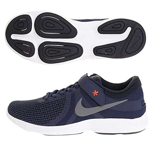 0aa6ca8713f54 NIKE Men s Midnight Navy Cool Grey Revolution 4 Flyease Running Shoes  (AA1729-400