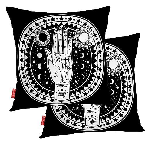 BaoNews Fundas de Almohada Vintage La Estrella del Sol Tarot ...