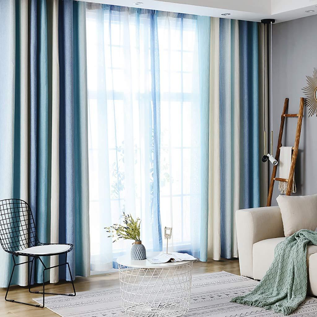 2018年新しいカーテンは、シンプルでモダンなリビングルーム、ワイルドなベッドルーム、地中海風の色合いで仕上げました。 (サイズ さいず : 2*w3*h2.7m) 2*w3*h2.7m  B07NW2FB96