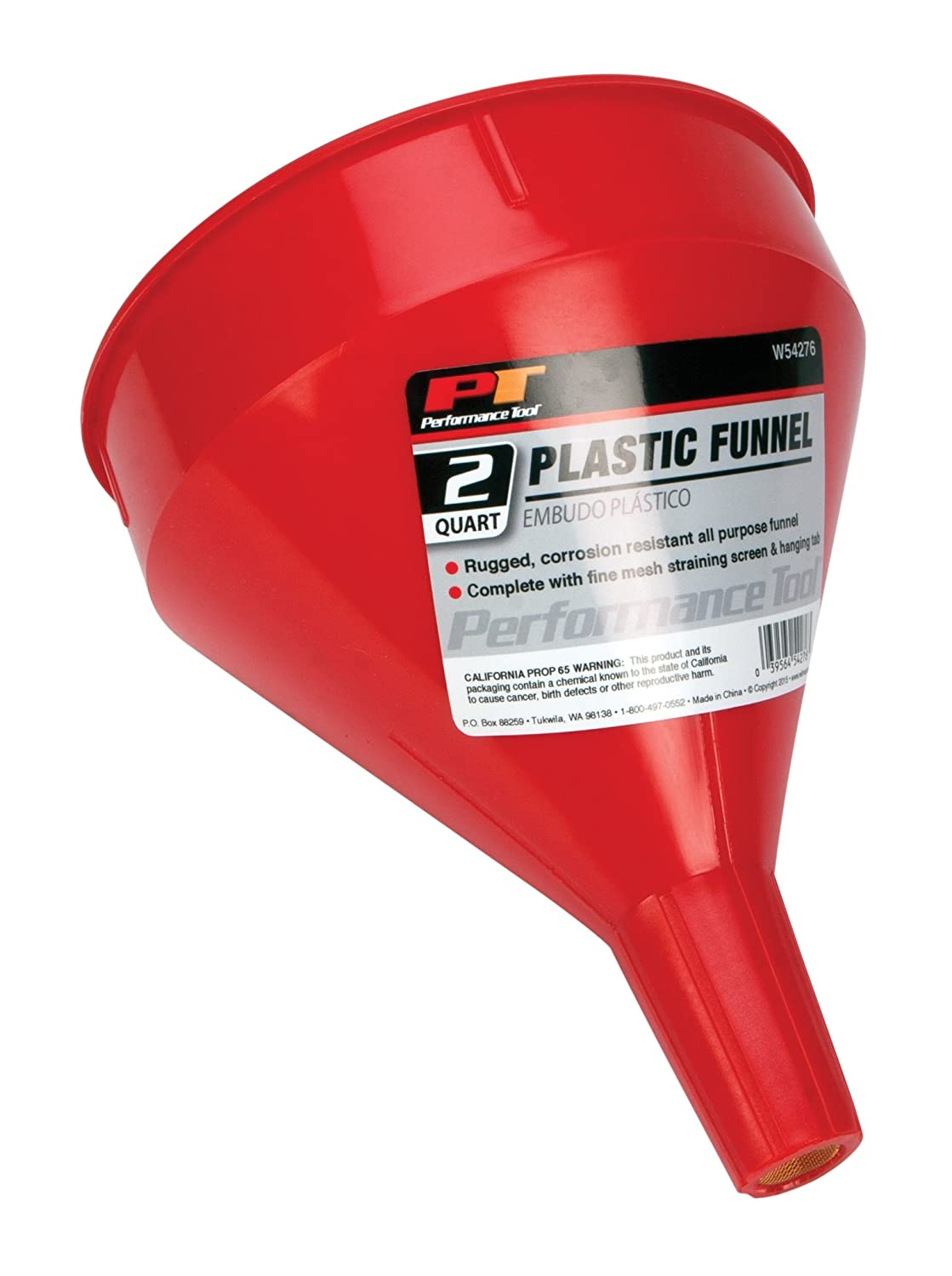 Performance Tool W219 Zinc Plated Funnel with 12 Flex Spout