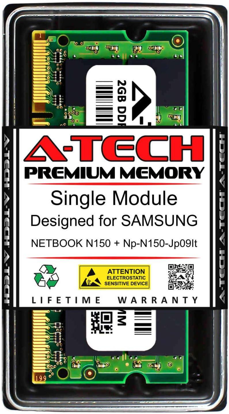 A-Tech 2GB RAM for Samsung Netbook N150 + NP-N150-JP09IT | DDR2 667MHz SODIMM PC2-5300 200-Pin Non-ECC Memory Upgrade Module