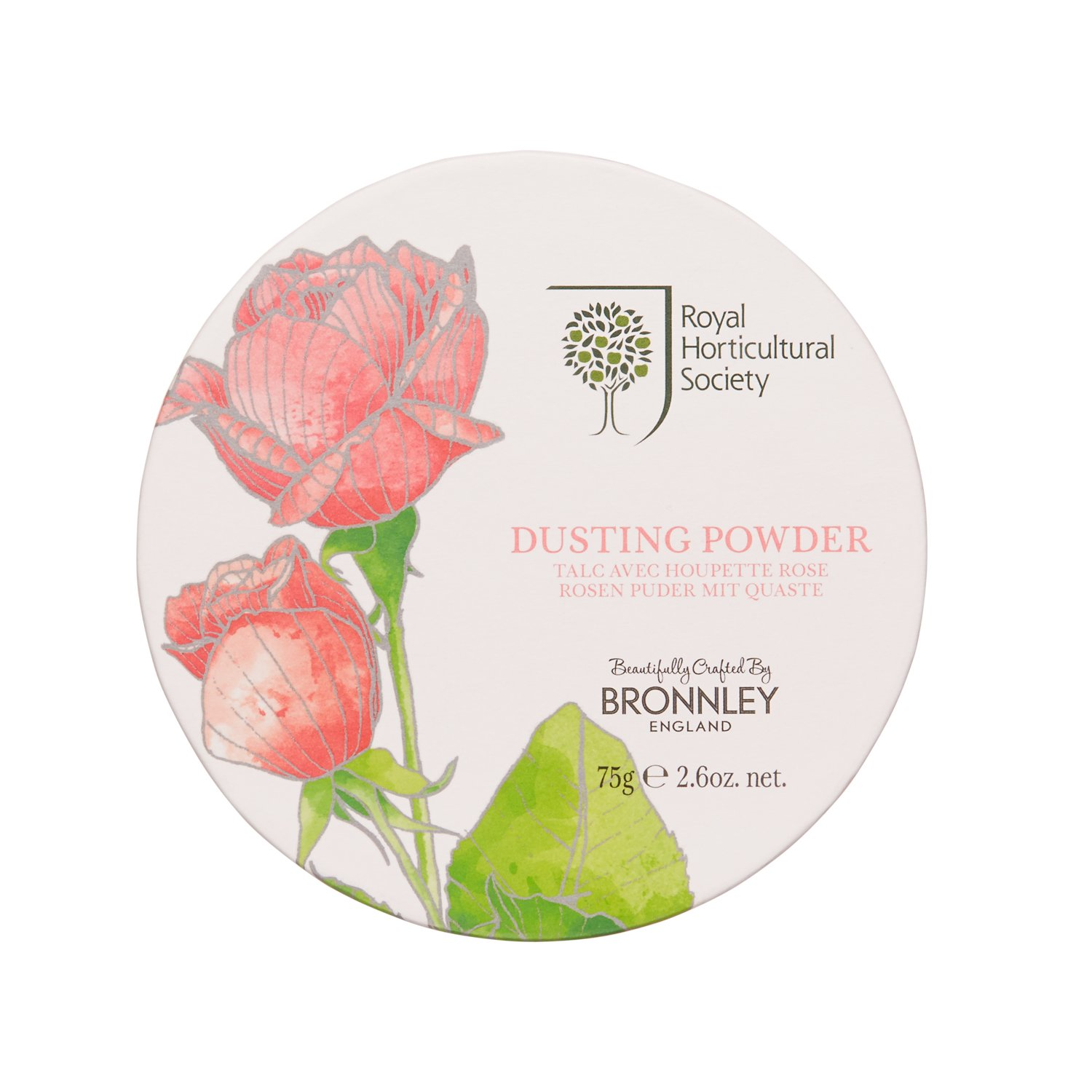 Bronnley The Royal Horticultural Society Dusting Powder, Rose 75 g 957092