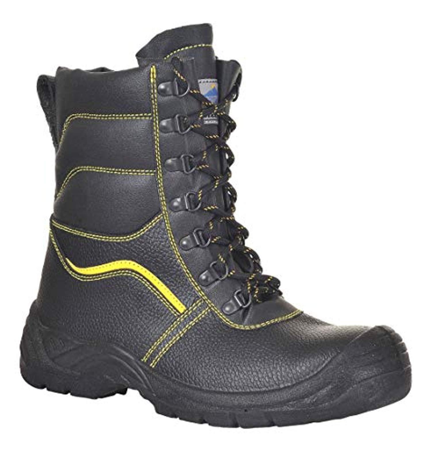 Portwest Fur Lined Protector Boot Black 11.5 R & Bandana Bundle