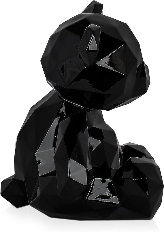 Multicolore 30x28x23 Cm World Art Ours facett/é Sculpture En R/ésine