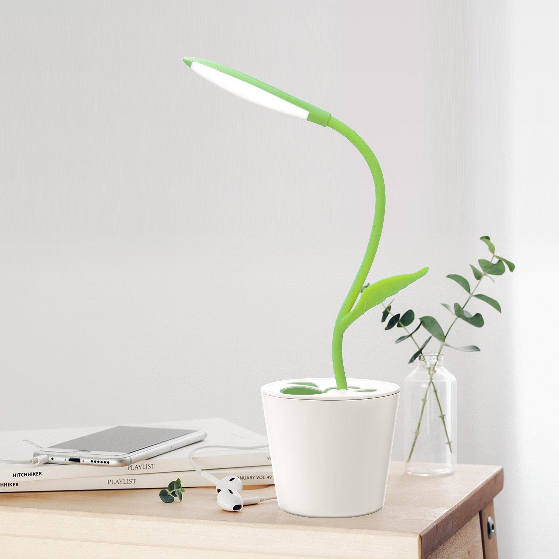 iEGrow Lámpara de Escritorio, LED USB 5V 1W Control Táctil