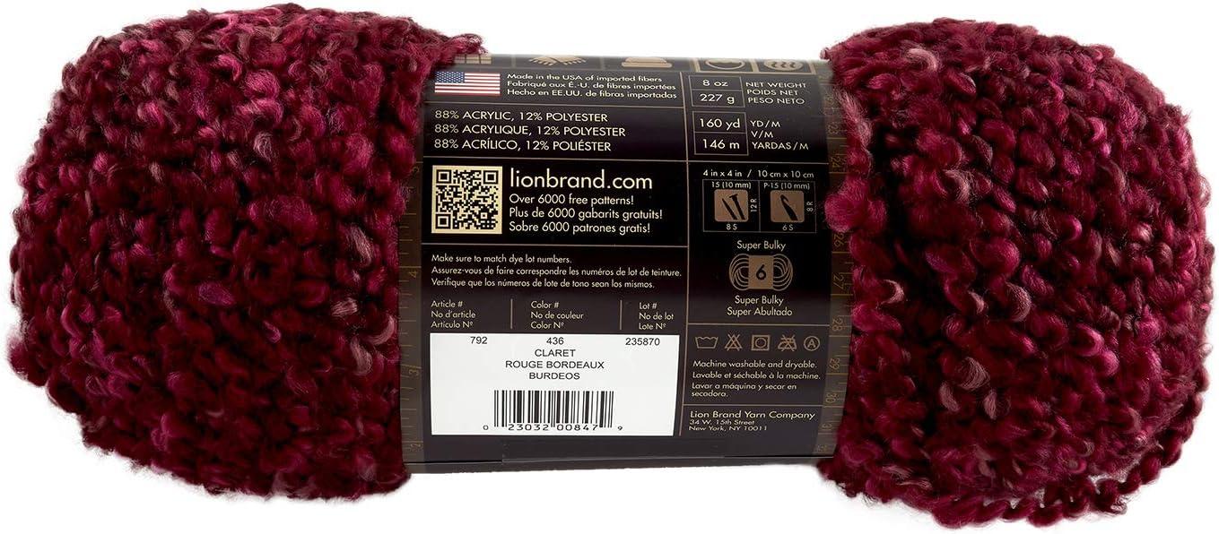 Lion Brand Yarn 792-312 Homespun Thick and Quick Yarn Edwardian