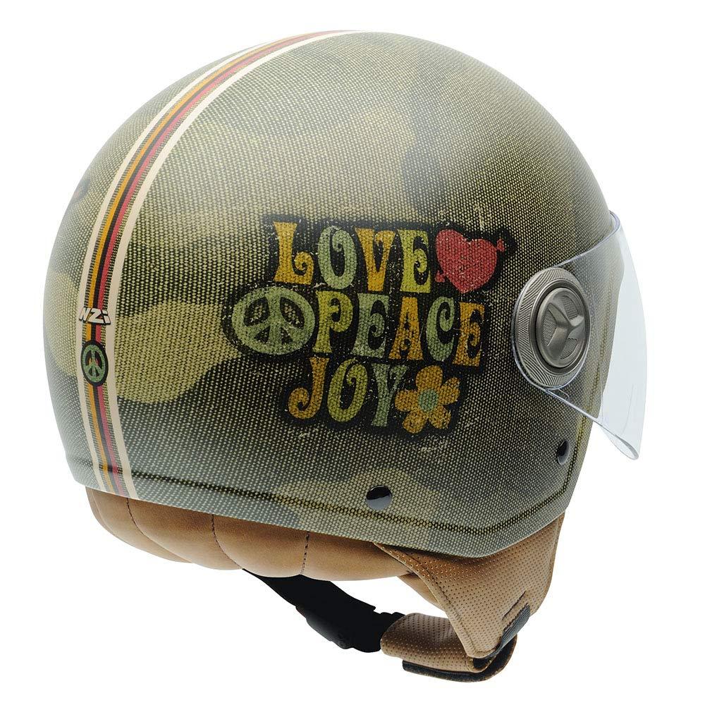 NZI Zeta Graphics Casco De Moto Love/&Peace,XX-Peque/ña