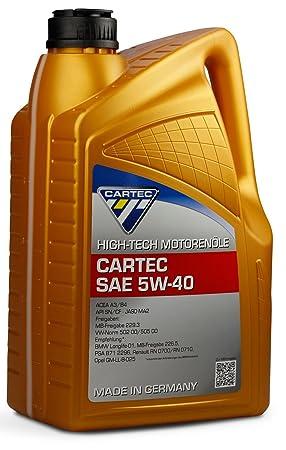 Cartec Aceite de motor High-Tech SAE 5W40 5L - Hecho en ...