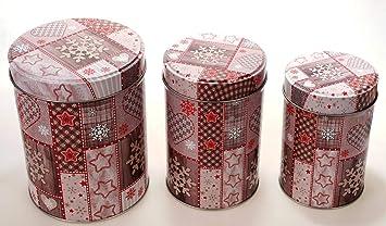 Weihnachten Keksdose Blechdose Gebäckdose Vorratsdose Plätzchendose Deko Dose