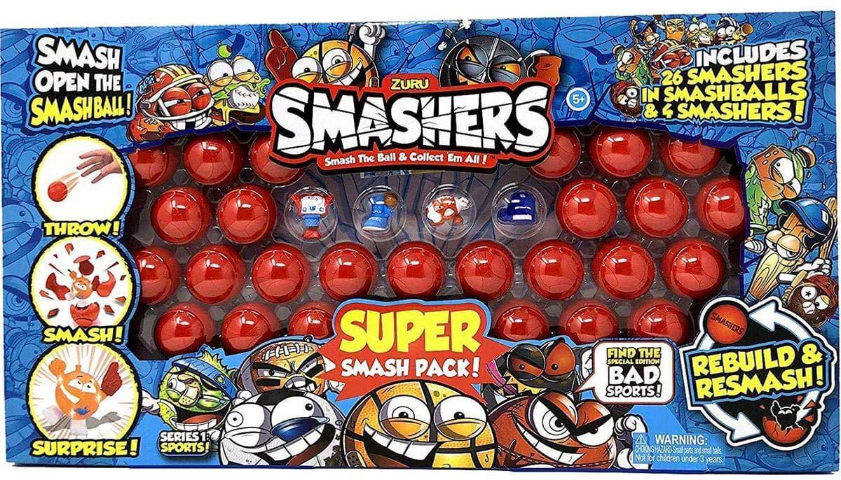 Zuru Smashers Super Smash Series 1 Sports Pack 30 Pieces
