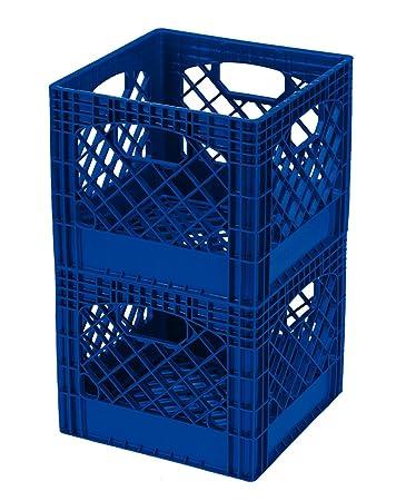 plastic milk crates free quart blue pack target white
