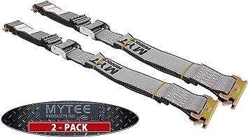 """4 Pack gray Van Trailer Semi Truck 2/""""X16/' ratchet for E-track"""
