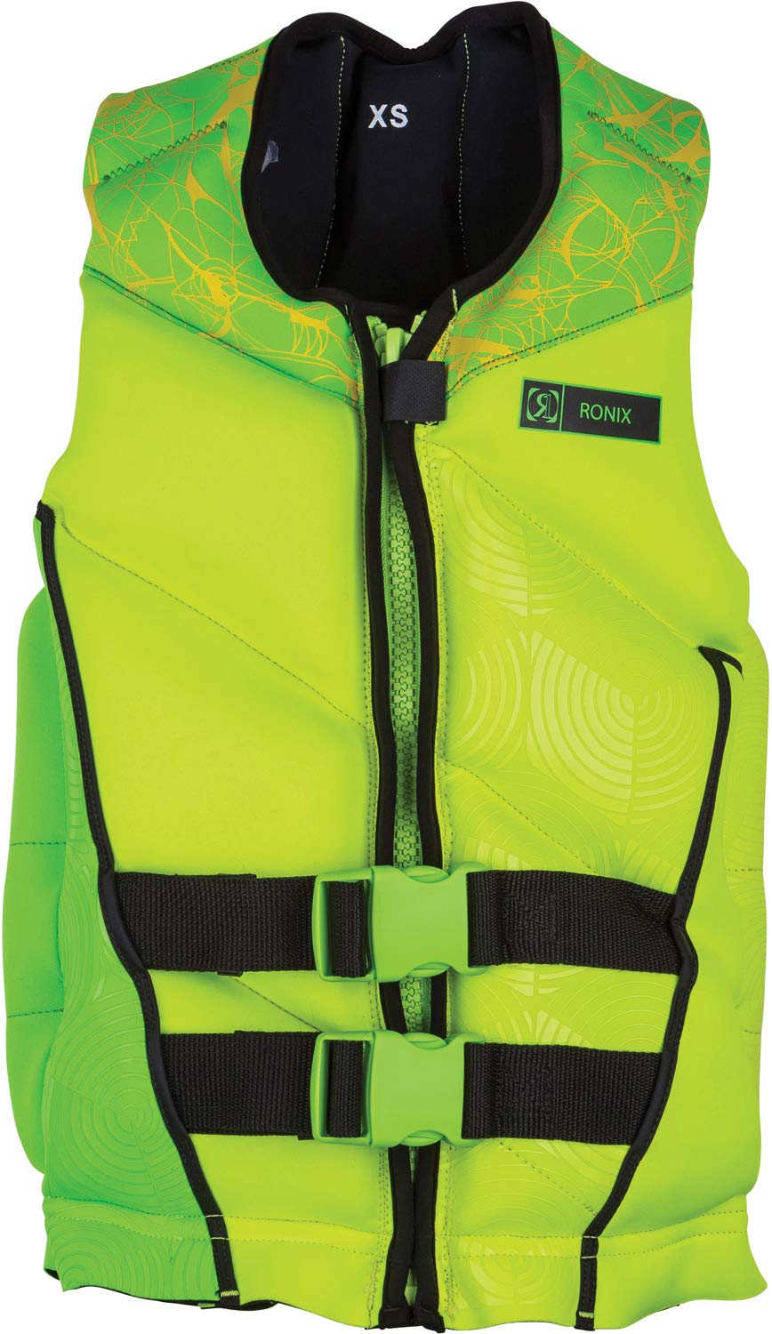 Ronix Driver's Ed Capella - 2.0 CGA Life Vest - Lime/Yellow - Teen (90-120lbs) (2018) by RONIX